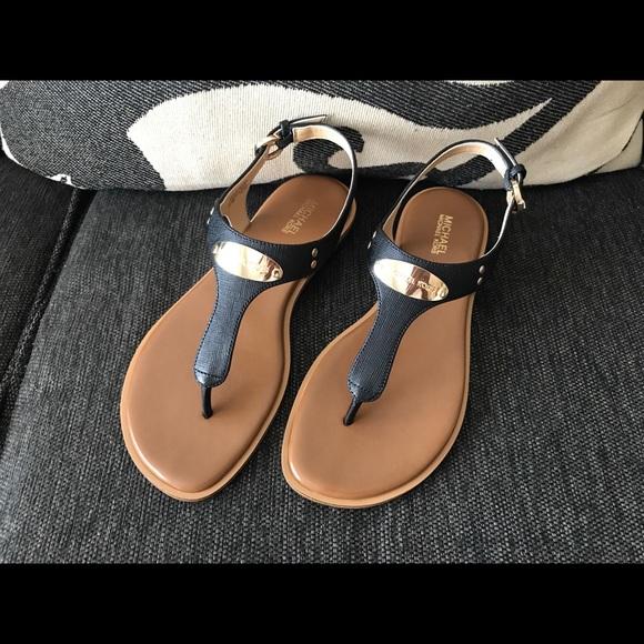 53dc9308b29 NWOT Michael Kors - Black Brown Leather Sandals!